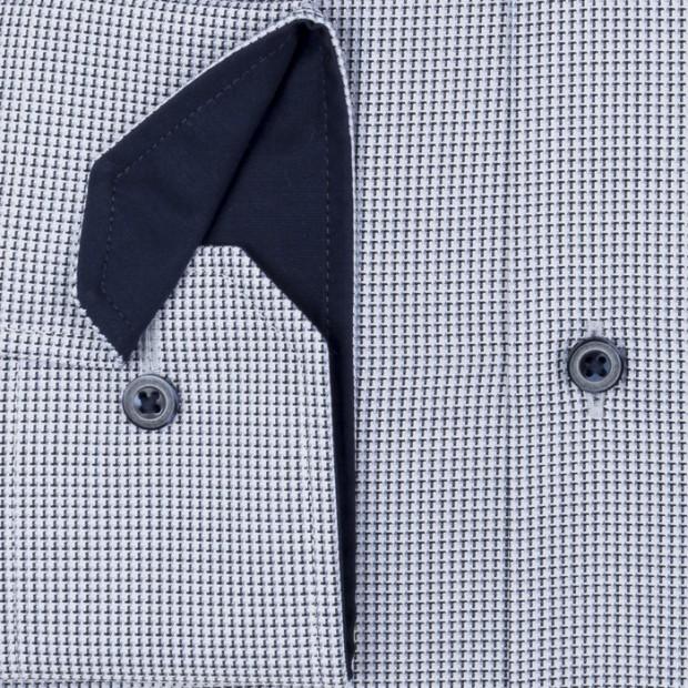 eterna vasalásmentes férfi ing fekete-kék mintás - mandzsetta