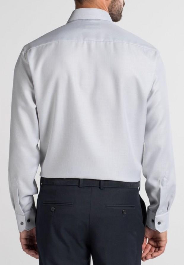 eterna vasalásmentes férfi ing szürke anyagában mintás - hát