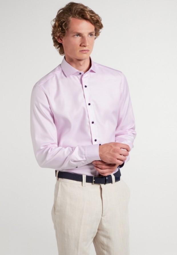 eterna vasalásmentes duplán karcsúsított férfi ing eterna vasalásmentes duplán karcsúsított férfi ing rózsaszín anyagában mintás - modell
