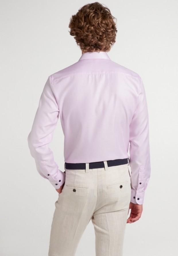eterna vasalásmentes duplán karcsúsított férfi ing eterna vasalásmentes duplán karcsúsított férfi ing rózsaszín anyagában mintás - hát