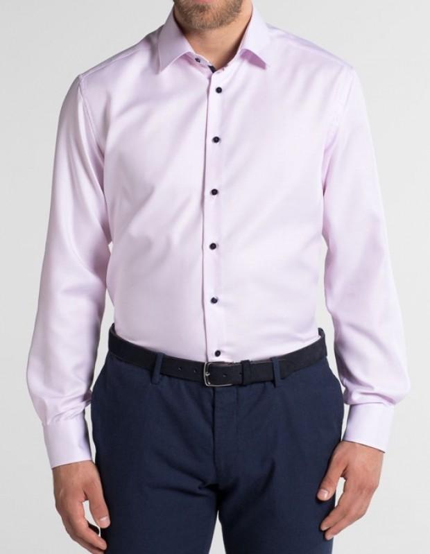eterna vasalásmentes karcsúsított férfi ing rózsaszín anyagában mintás - modell