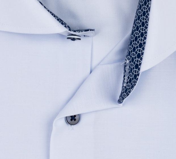 eterna vasalásmentes férfi ing rövid ujjú világoskék - gallér