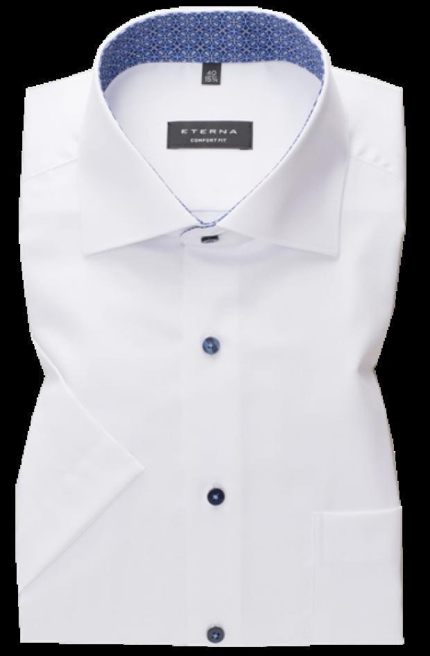 eterna vasalásmentes férfi ing rövid ujjú fehér