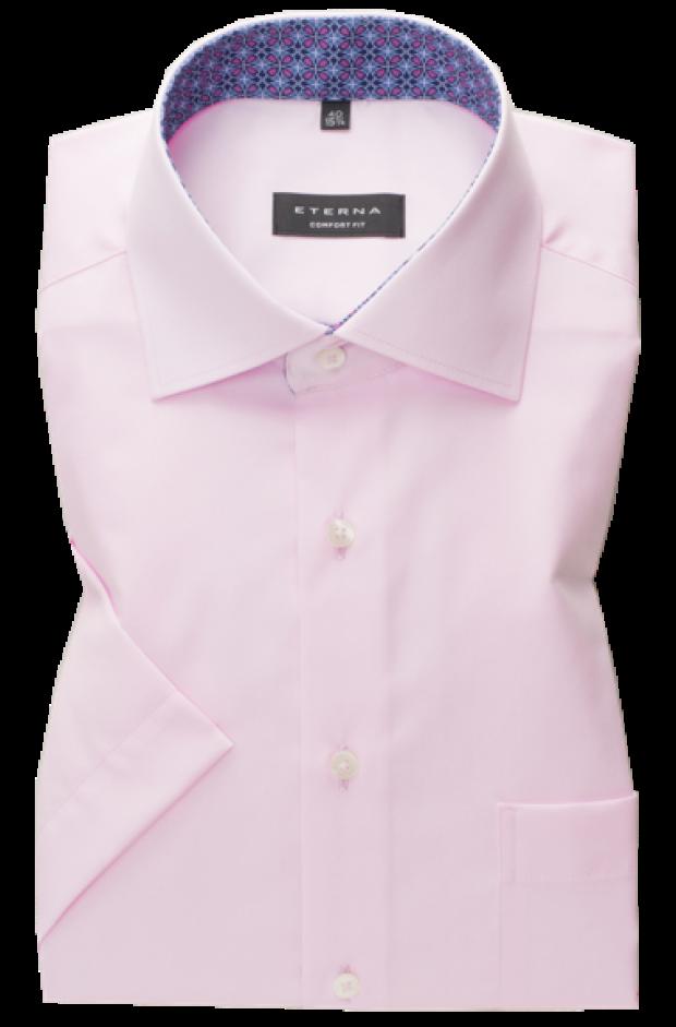 eterna vasalásmentes férfi ing rövid ujjú rózsaszín