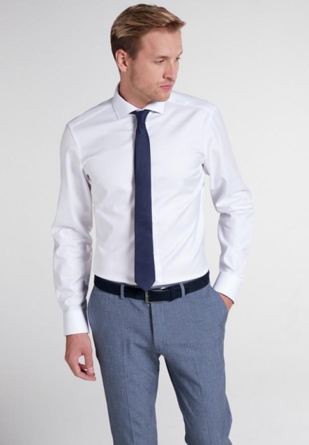 eterna vasalásmentes karcsúsított férfi ing fehér (lotus shirt) - modell