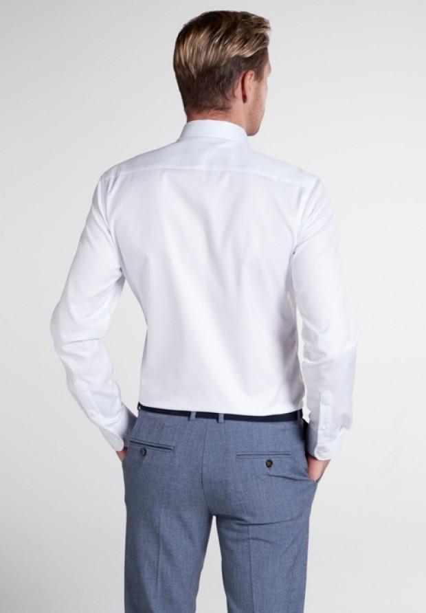 eterna vasalásmentes karcsúsított férfi ing fehér (lotus shirt) - modell hát