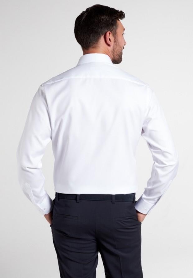 eterna vasalásmentes karcsúsított férfi ing fehér (lotus shirt) - hát