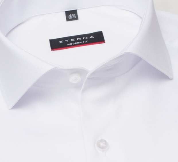 eterna vasalásmentes karcsúsított férfi ing fehér (lotus shirt) - gallér