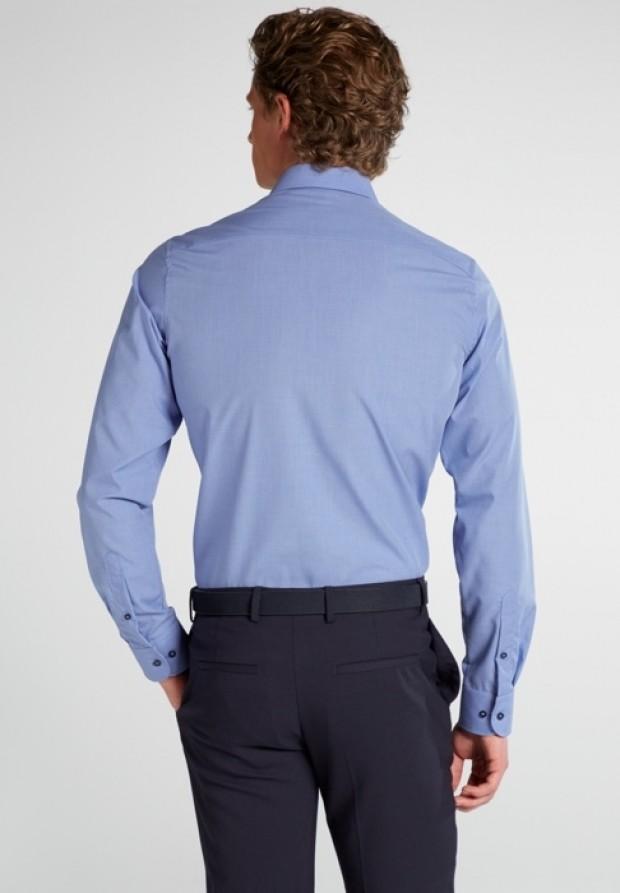 eterna vasalásmentes karcsúsított férfi ing kék apró mintás - hát