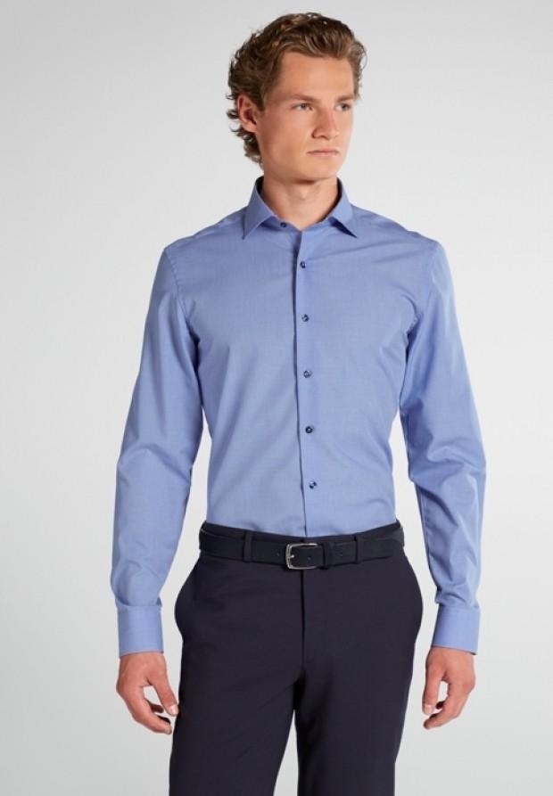 eterna vasalásmentes karcsúsított férfi ing kék apró mintás - modell