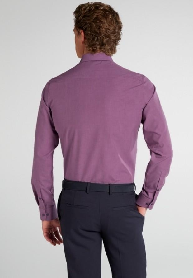 eterna vasalásmentes karcsúsított férfi ing bordós lila mintás - hát