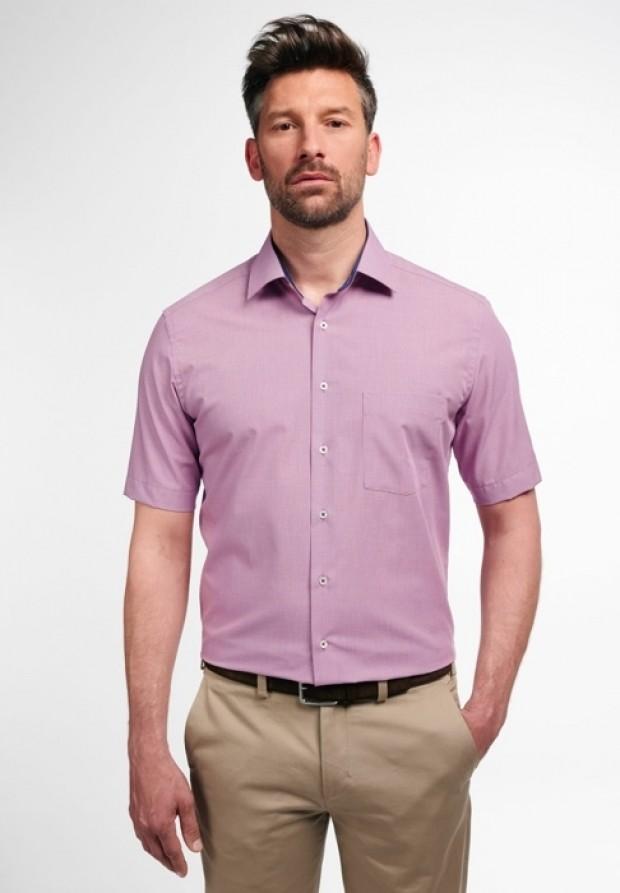 eterna vasalásmentes karcsúsított férfi ing rövid ujjú violalila - modell