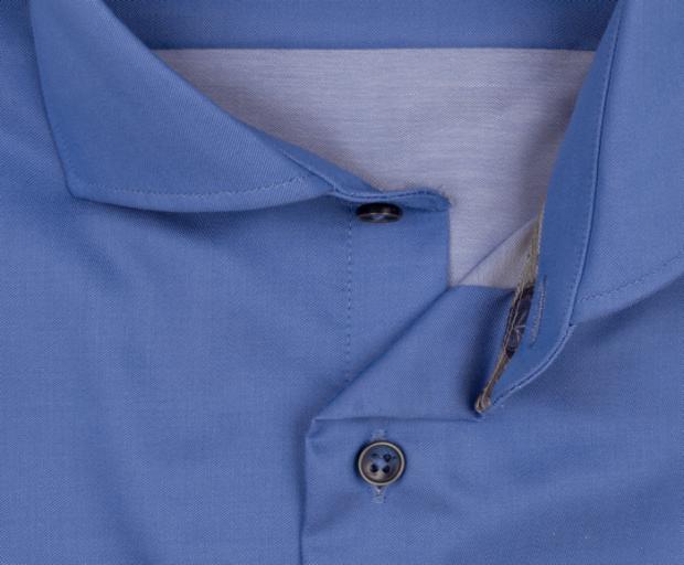 eterna vasalásmentes duplán karcsúsított férfi ing kék - gallér