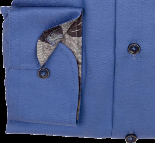 eterna vasalásmentes duplán karcsúsított férfi ing kék - mandzsetta