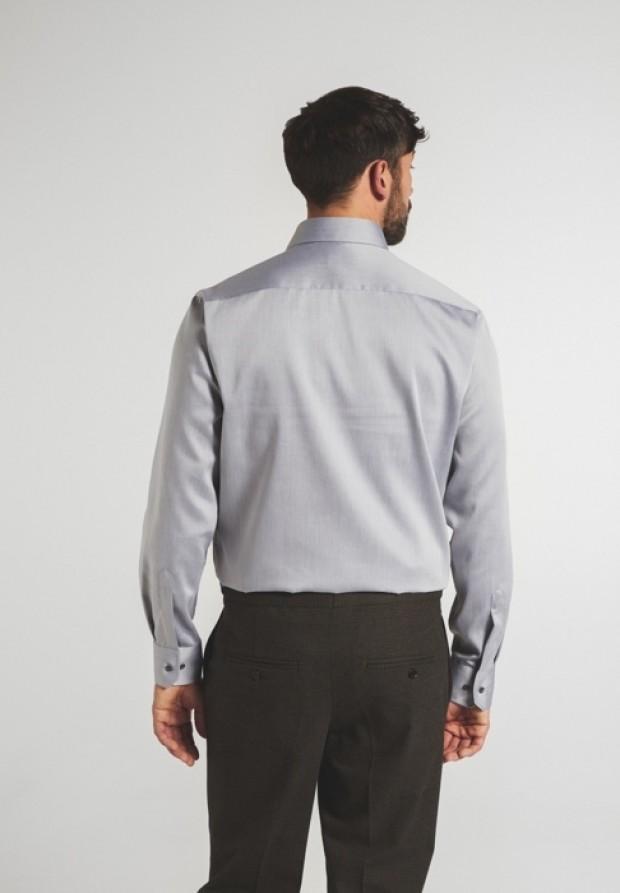 eterna vasalásmentes férfi ing világosszürke - hát