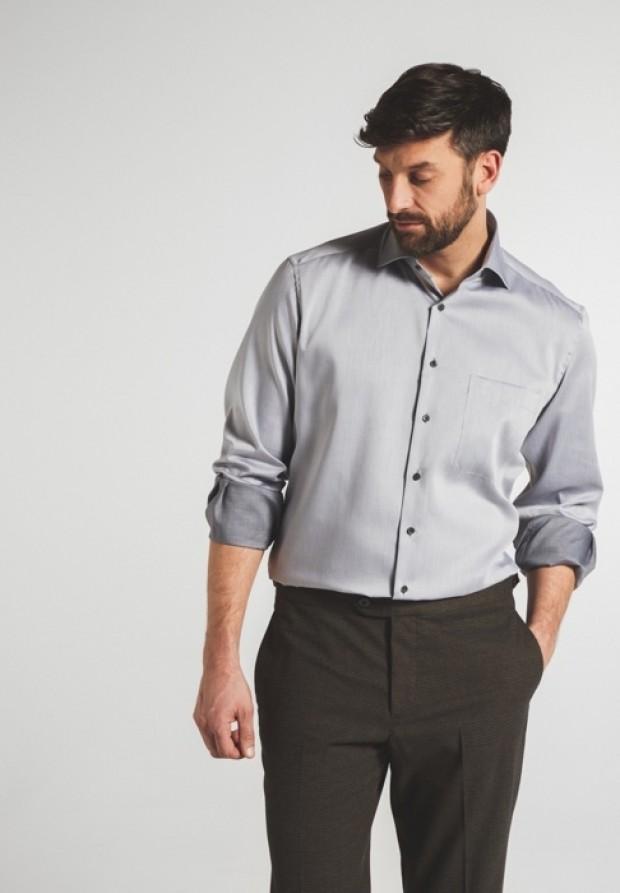 eterna vasalásmentes férfi ing világosszürke - modell