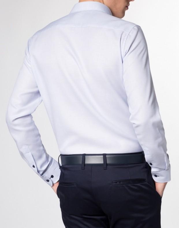 eterna vasalásmentes duplán karcsúsított férfi ing eterna vasalásmentes duplán karcsúsított férfi ing kék anyagában mintás - hát