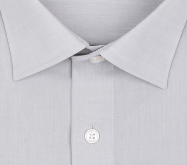 OLYMP vasalásmentes férfi ing világos szürke - gallér