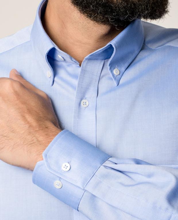eterna vasalásmentes férfi ing kék - mandzsetta
