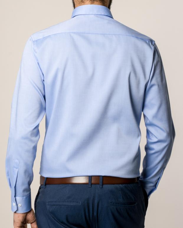 eterna vasalásmentes karcsúsított férfi ing kék - modell hát