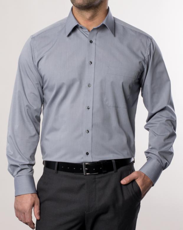 eterna vasalásmentes férfi ing szürke - modell