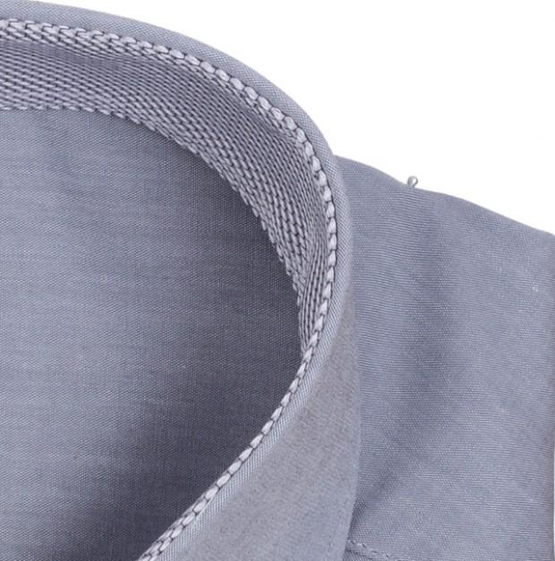 eterna vasalásmentes karcsúsított férfi ing szürke - gallér