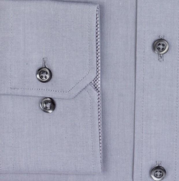 eterna vasalásmentes karcsúsított férfi ing szürke - mandzsetta