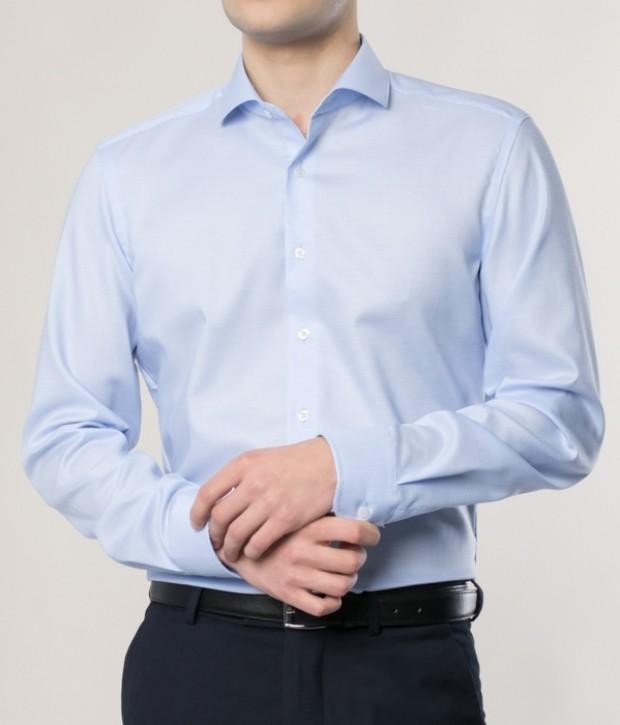 eterna vasalásmentes duplán karcsúsított férfi ing eterna vasalásmentes duplán karcsúsított férfi ing világoskék anyagában mintás - modell