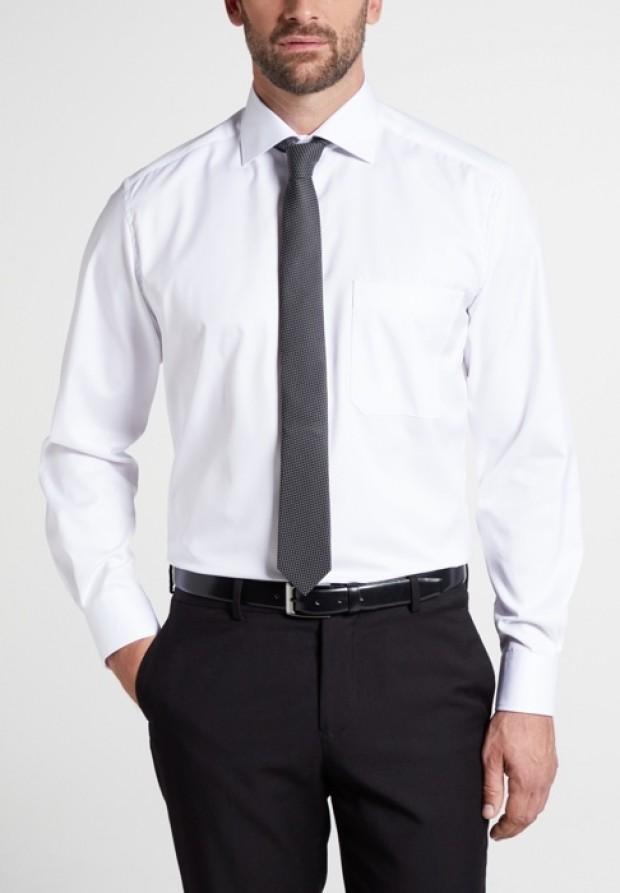eterna vasalásmentes férfi ing fehér hosszított ujjú  - modell