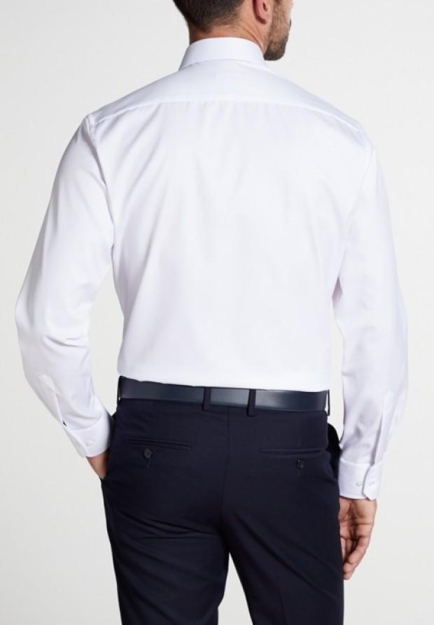 eterna vasalásmentes karcsúsított férfi ing fehér hosszított ujjú - hát
