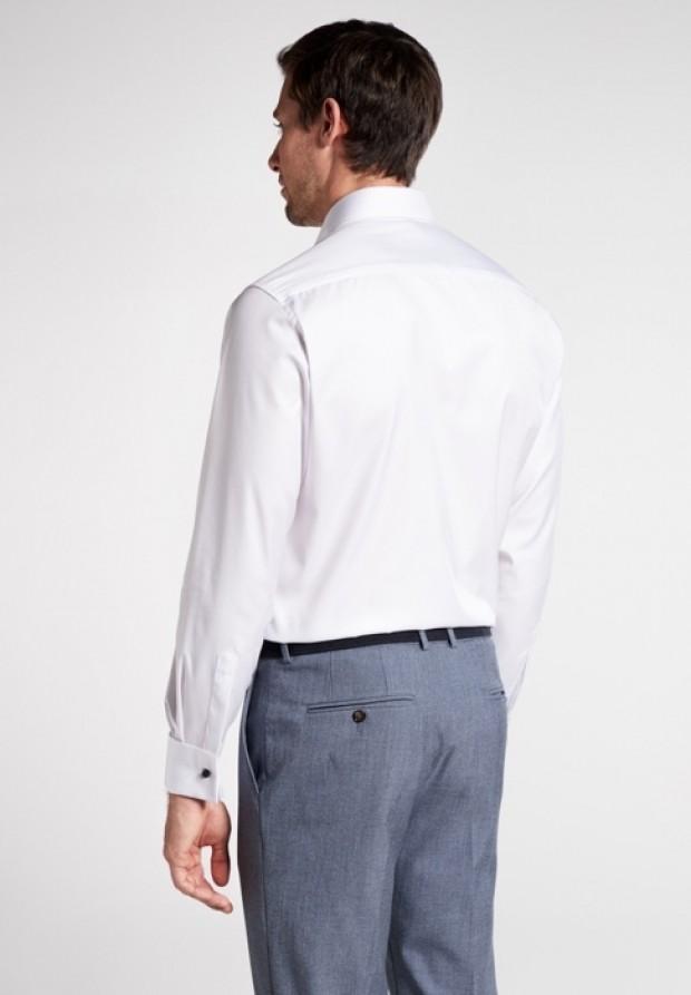 eterna vasalásmentes karcsúsított férfi ing fehér gála - hát