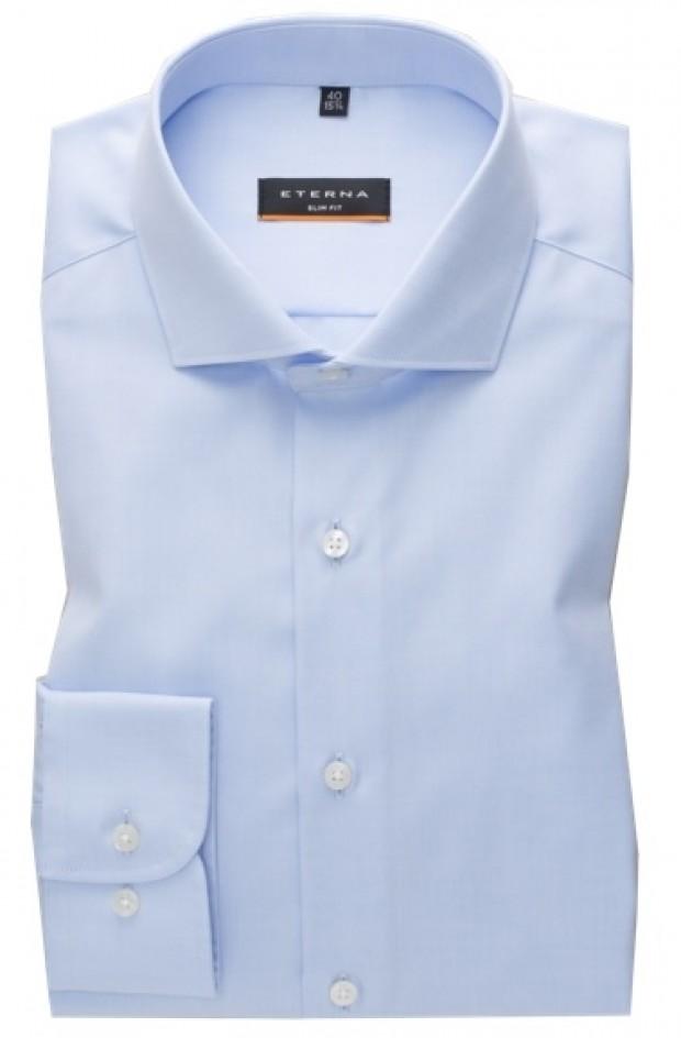 eterna vasalásmentes duplán karcsúsított férfi ing világoskék (cover shirt)