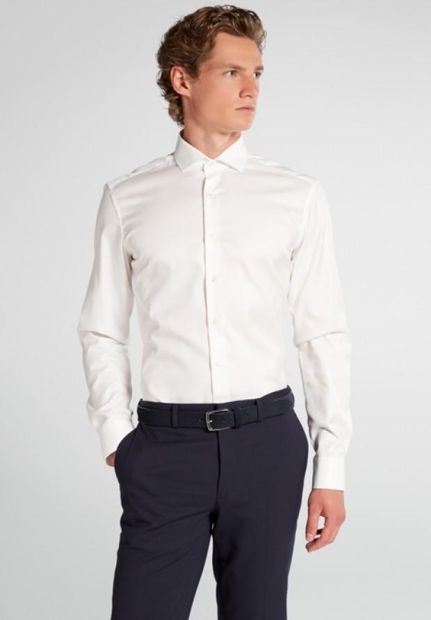 eterna vasalásmentes duplán karcsúsított férfi ing bézs (cover shirt) - modell