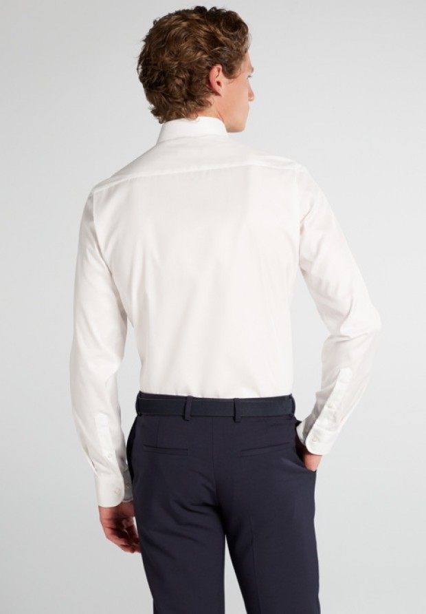 eterna vasalásmentes duplán karcsúsított férfi ing bézs (cover shirt) - hát