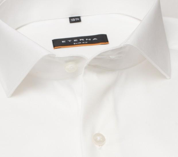 eterna vasalásmentes duplán karcsúsított férfi ing bézs (cover shirt) - gallér