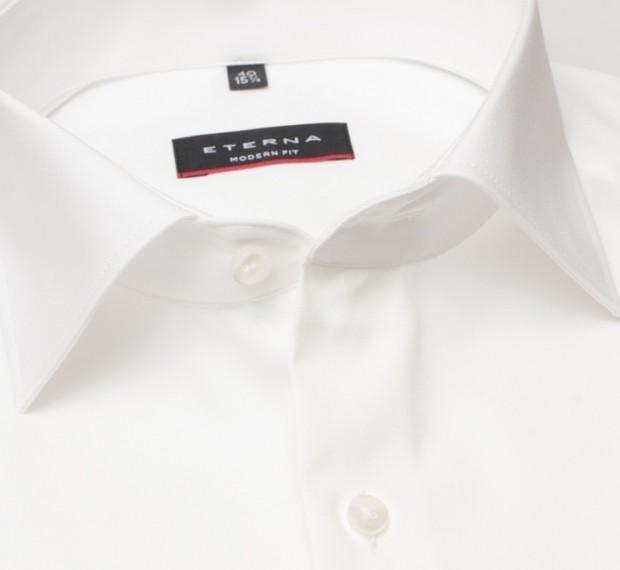 eterna vasalásmentes karcsúsított férfi ing bézs (cover shirt) - gallér