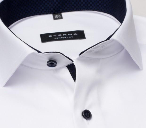 eterna vasalásmentes férfi ing fehér cover shirt - gallér