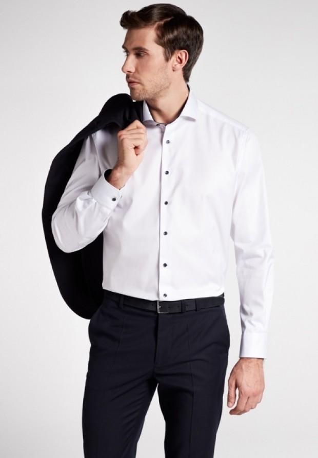 eterna vasalásmentes férfi ing fehér cover shirt - modell