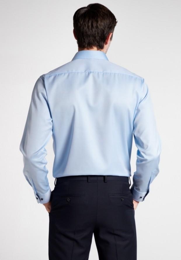 eterna vasalásmentes karcsúsított férfi ing világoskék (cover shirt) - hát