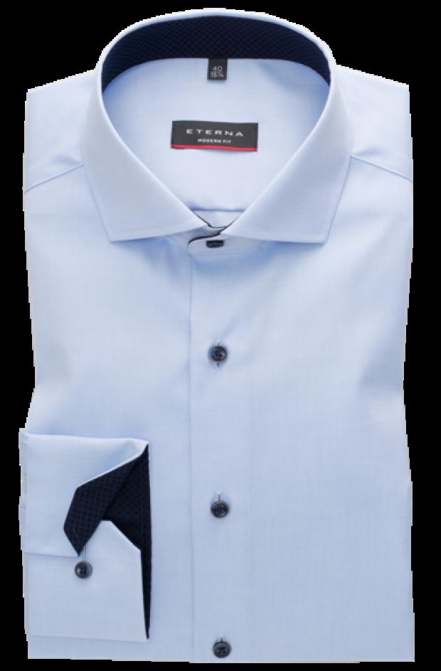 eterna vasalásmentes karcsúsított férfi ing világoskék (cover shirt)