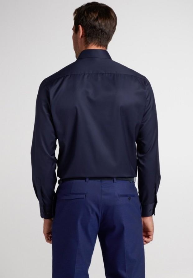 eterna vasalásmentes karcsúsított férfi ing sötétkék (cover shirt) - hát