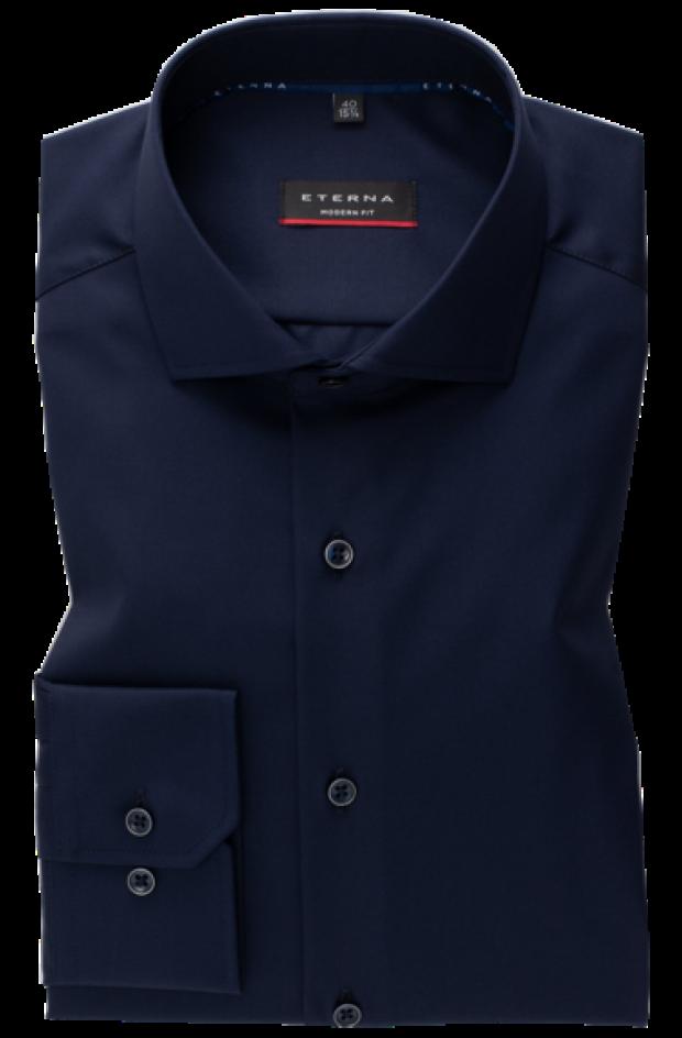 eterna vasalásmentes karcsúsított férfi ing sötétkék (cover shirt)