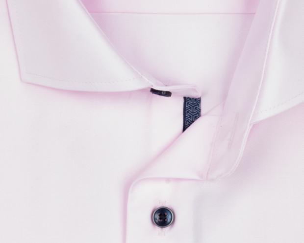 eterna vasalásmentes karcsúsított férfi ing rózsaszín - gallér