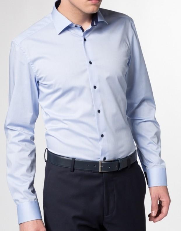 eterna vasalásmentes duplán karcsúsított férfi ing világoskék - modell