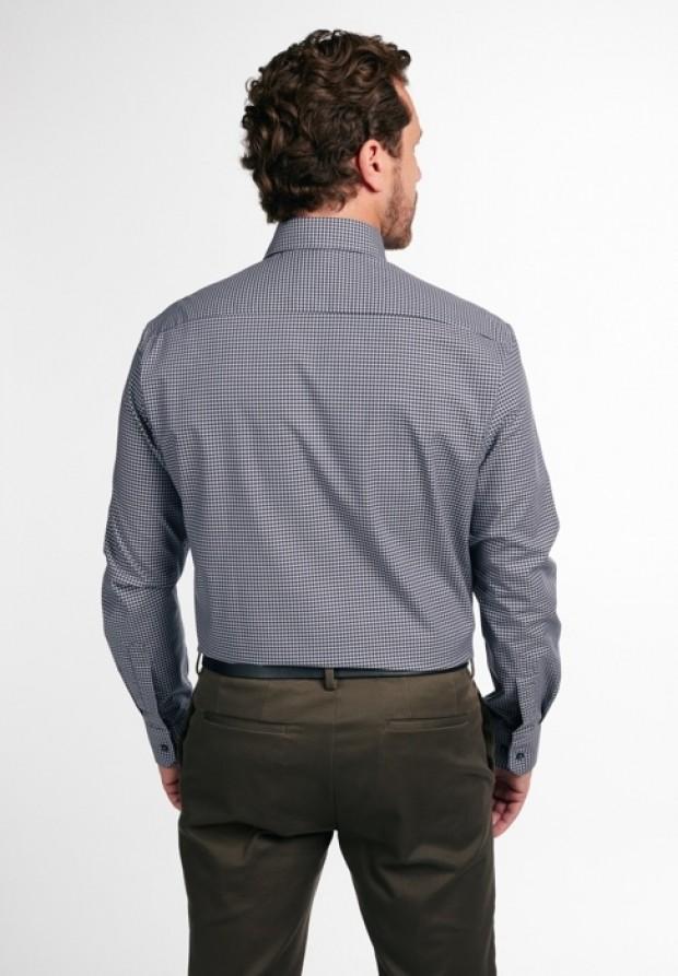 eterna vasalásmentes férfi ing szürke-fekete kockás - hát