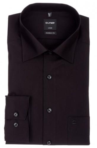OLYMP vasalásmentes férfi ing karcsúsított fekete