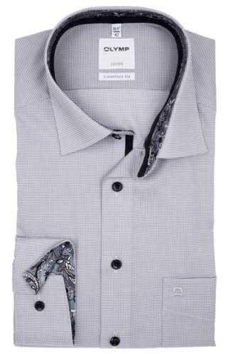 OLYMP vasalásmentes férfi ing szürke apró mintás