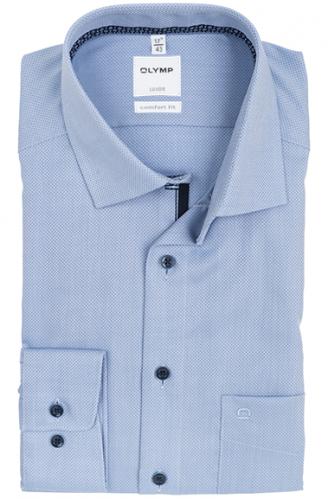 OLYMP vasalásmentes férfi ing világoskék anyagában mintás