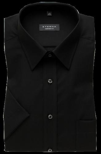 ETERNA comfort fit fekete rövid ujjú ing