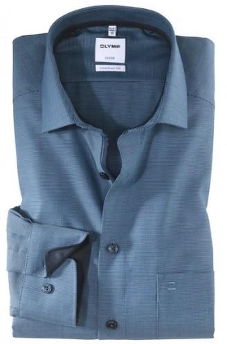 OLYMP vasalásmentes férfi ing kék-sötétkék mintás